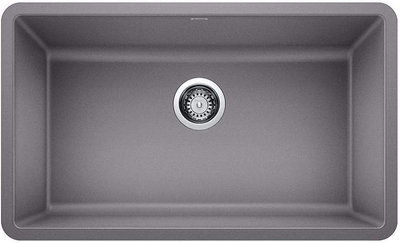 BLANCO 442536 PRECIS SILGRANIT Undermount Kitchen Sink, Metallic Gray