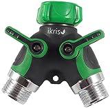 ikris Garden Hose Splitter 2-Way with Rubberized ComfortGrip