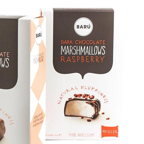 Baru Belgian Marshmallows - Dark Chocolate with Red Berries (4.23 ounce) by Baru