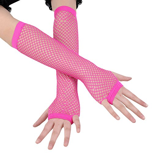 Ayliss 2 Pairs Long+short Fishnet Gloves 5 Colors Available