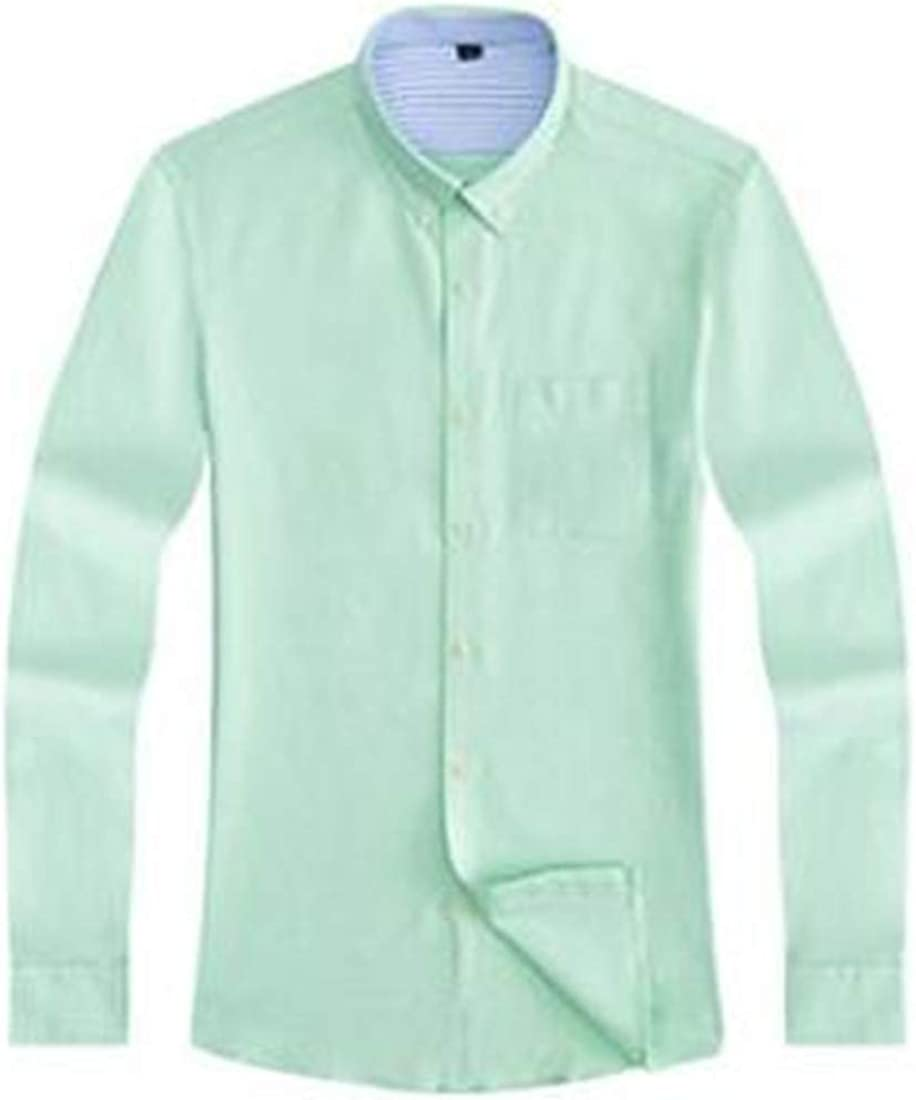 Lutratocro Men Slim Classical All-Match Long-Sleeve Button Down Cotton Shirts