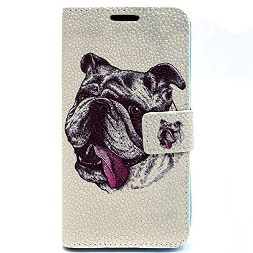 Carcasa para Samsung Galaxy S4, Galaxy S4 PU Cuero Funda Folio Carcasa, Galaxy S4 Funda Carcasa protectora, Galaxy S4 Leather Wallet Flip Case Stand Cover Skin Shell, Ukayfe Cubierta de la caja Funda  Shar Pei
