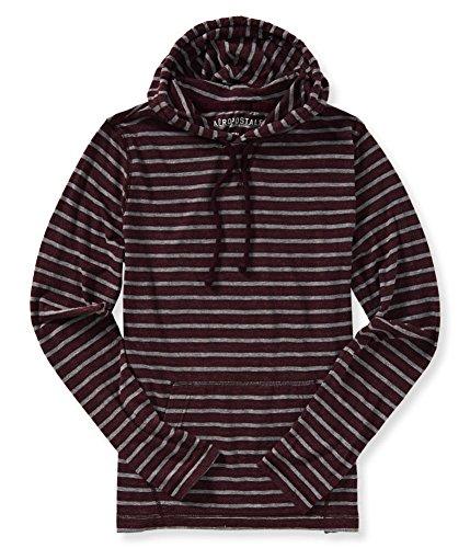 Aeropostale Lightweight Striped Hoodie Sweatshirt