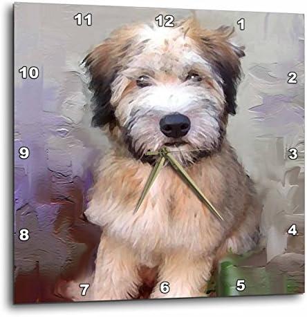 3dRose DPP_4810_2 Soft Coated Wheaten Terrier Wall Clock