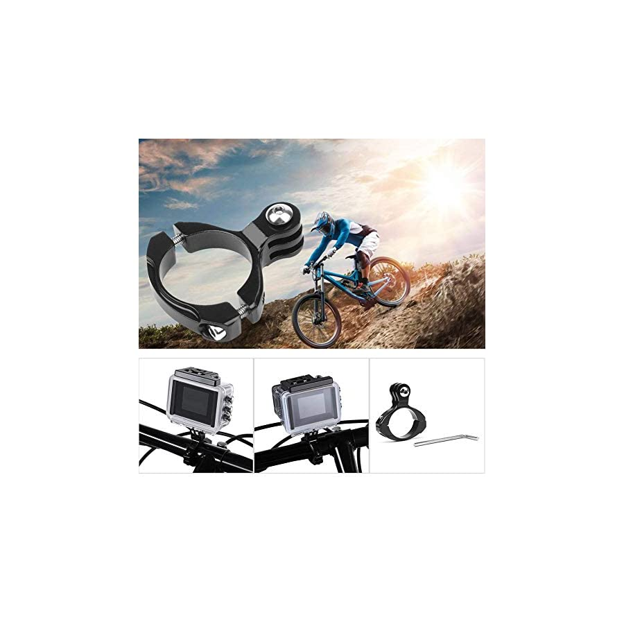 Alloet Bicycle Rig Roll Mount Handlebar Clip Holder Seatpost for Gopro Hero 6 5 4