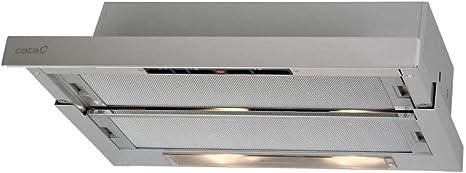 Cata Modelo TF 5260 X | 3 velocidades de extracción | Campana extractora Cocina 325m3/h-150m3/h | Acabado en Acero Inoxidable | [Clase de eficiencia energética D], 5.5 W, 65 Decibelios, Aluminio: Amazon.es: Hogar