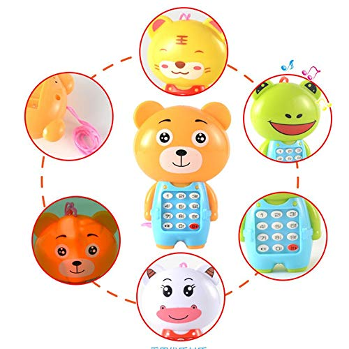 gelb LmqhGzuqume Kreative Cartoon Musik Handy leuchtende Kinder Lernspielzeug