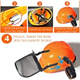 Yellow Industrial Forestry Safety Helmet With