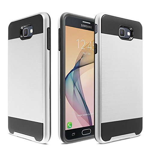 Slim Shockproof Case for Samsung Galaxy On7 (Silver) - 1