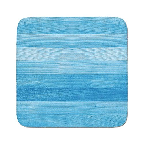 Pads Cushion Area Rug,Light Blue,Wooden Planks Painted Texture Image Oak Tree Surface Maple Pine Board Stripes Decorative,Light Blue,Easy to Use on Any Surface ()
