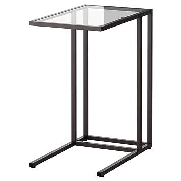 IKEA ASIA VITTSJO - Soporte para ordenador portátil, color negro y marrón