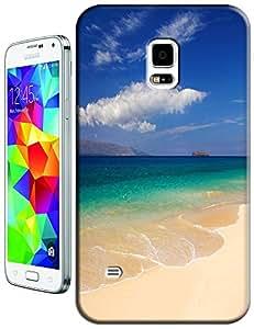 Samsung Galaxy Accessories Beautiful Beach Sunshine Sea Water Clean White Cloud Design For Samsung Galaxy S5 i9600 No.10