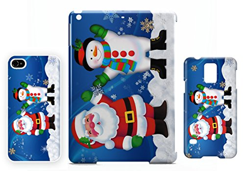 Santa Claus and snowman iPhone 5C cellulaire cas coque de téléphone cas, couverture de téléphone portable