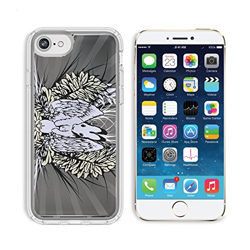 Emblem Lighter Free Gift (MSD Premium Apple iPhone 6 iPhone 6S Clear case Soft TPU Rubber Silicone Bumper Snap Cases IMAGE ID: 4371167 Easter hare theme emblem hand drawn elements separate)