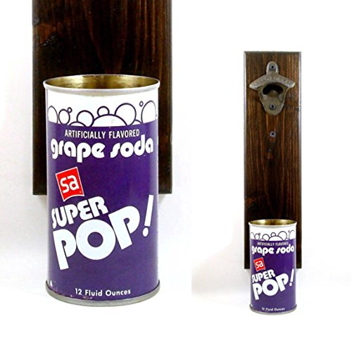 rustic-wall-mounted-beer-bottle-opener-with-a-vintage-superamerica-grape-soda-can-cap-catcher