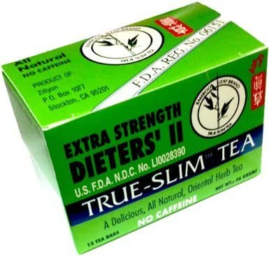 Bamboo Leaf Brand Extra Strength Dieters II True Slim Tea 12 Bags