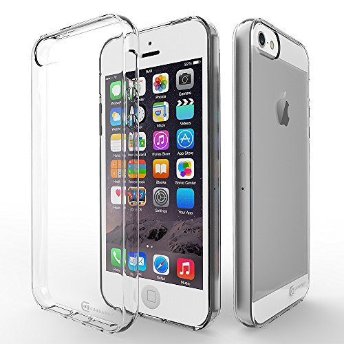 Case Army iPhone 5 | 5S | SE | 5G Clear Case [Manifest] Scratch-Resistant Slim Clear Case for Apple iPhone 5 | 5S | SE | 5G Soft Flexible Silicone Crystal Clear Cover with TPU Bumper 5 Silicone Silicon Case