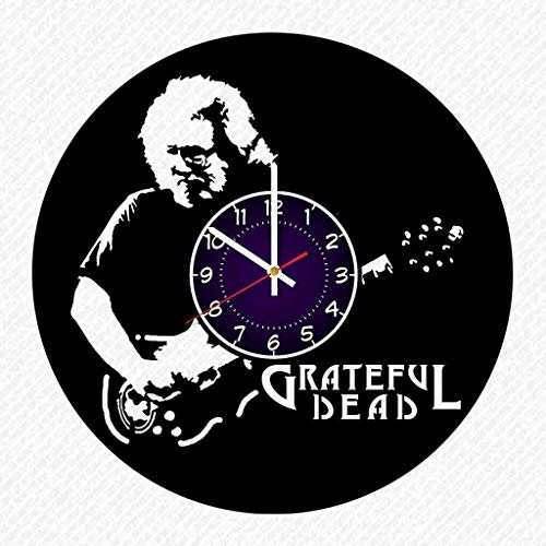 Grateful Dead Band Music Vinyl Record 12 Inch Wall Clock Room Wall Decor Music Art Gift Modern Home Vintage Decoration Gift Birthday Halloween Christmas Gifts -