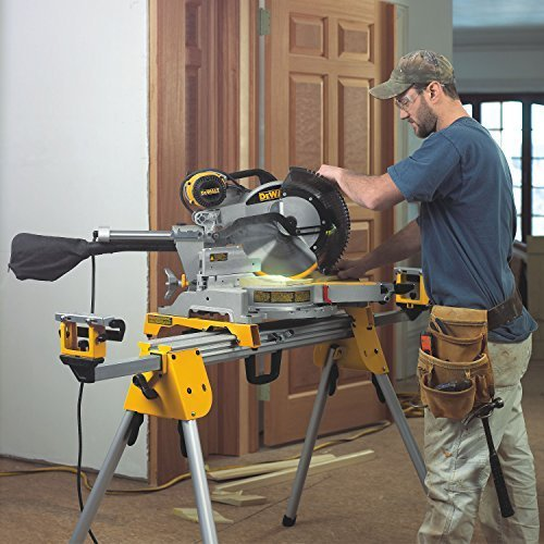 product image of  DEWALT DWS780 being used by contractor