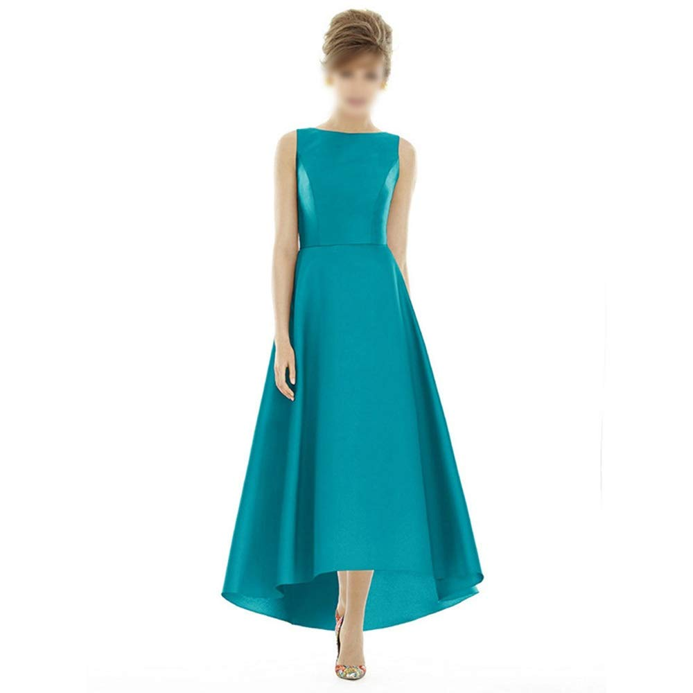 bluee Sububblepper Women's Fashion Sleeveless Long Aline Evening Formal Dress Bridesmaid Dress Formal Occassion (color   Green, Size   L)