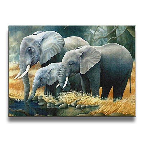 Janvonne 1620 Inch Elephant-cartoons Designs Frameless Picture Living Room - Clipart Mechanical