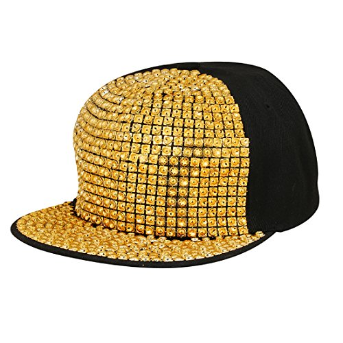 Merchant eShop Golden Hip Hop New stylish Fancy Funky Nail Men s Boys Cap   Amazon.in  Clothing   Accessories 0b3f29cdf3d