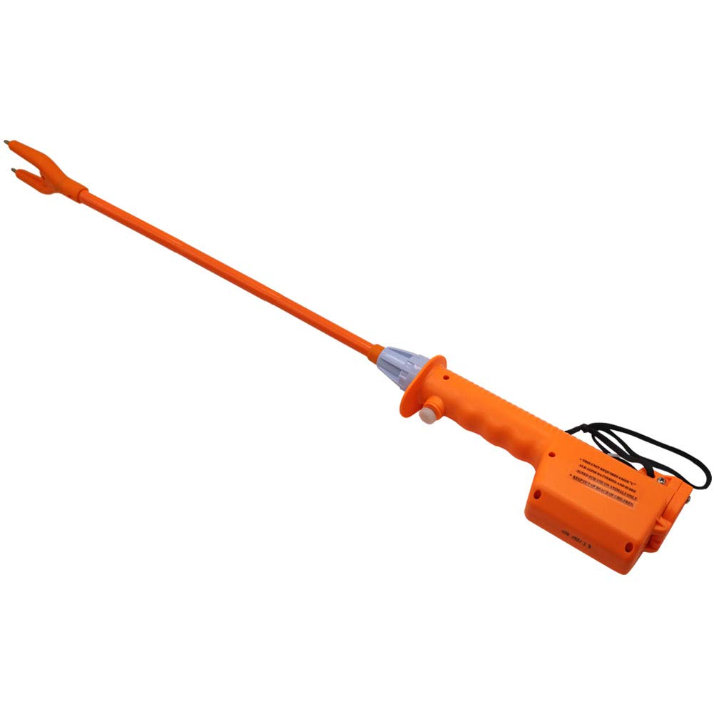 M.Z.A Livestock Prod Electric Cattle Prod Long Stock Prod Stick for Cow Pig Sheep 31 Inches Batteries-Operated Orange by M.Z.A