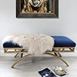 Genuine real Beige cream Tibetan Mongolian Sheepskin Fur Hide pelt throw rug Premium Quality