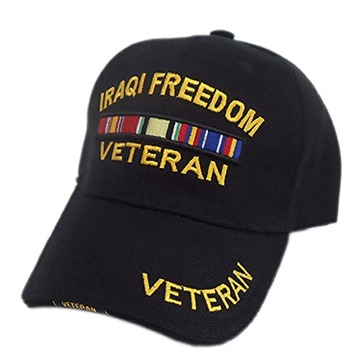 US HONOR TM 3D Embroidered Veteran Iraqi Freedom Baseball Caps ()