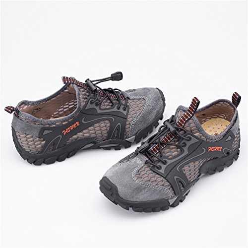 Montaña Deportivas Pescador Flarut Transpirable Sandalias Asfalto Zapatilla Trekking Zapatos Verano Malla Gris Deportes Playa Correr para Senderismo y Zapatos Hombres de Casuales 6qwF5AxCqr