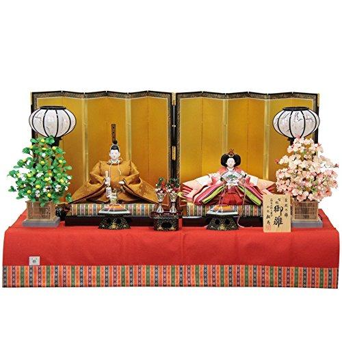 雛人形 親王平飾り 京六番(2人) 幅150cm 183to2088 小出松寿 名匠   B075J6TLMB