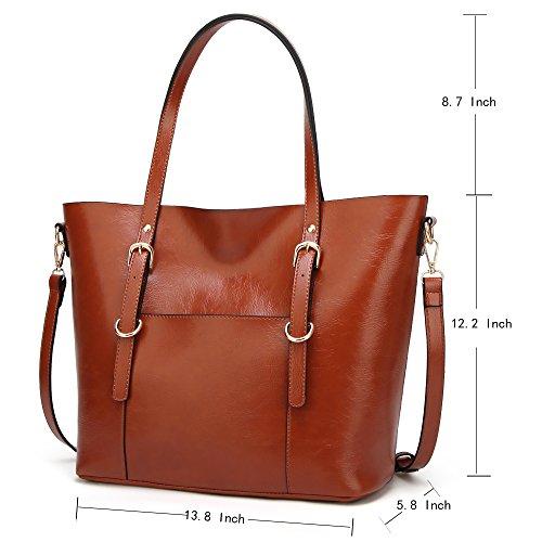 Handbag for Women Soft PU Leather Top Handle Satchel Clutch Purse Shoulder Bags for Lady by Jeniulet (Image #1)