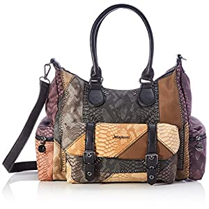 Desigual Accessories PU Shoulder Bag, Borsa a Tracolla. Donna, Marrone, U 17