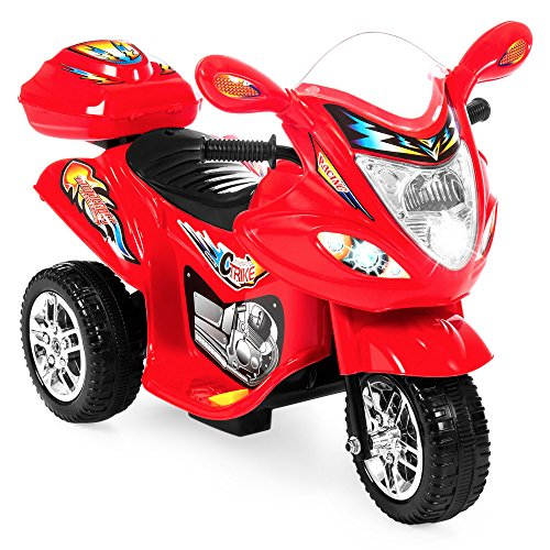Power Red Package (Best Choice Products Kids Ride On Motorcycle 6V Toy Battery Powered Electric 3 Wheel Power Bicyle, Red)