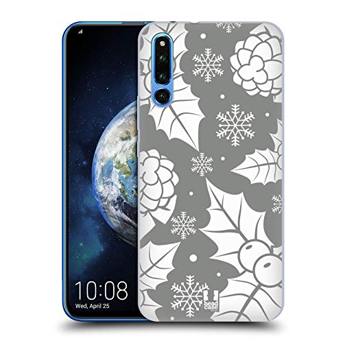 Head Case Designs Ornaments Silver Holiday Collection Hard Back Case Compatible for Huawei Honor Magic 2