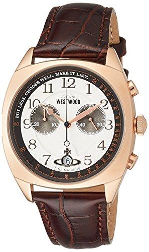 Vivienne Westwood watch HAMPSTEAD White Dial Brown Leather Chronograph Quartz VV176WHBR Men's parallel import goods]