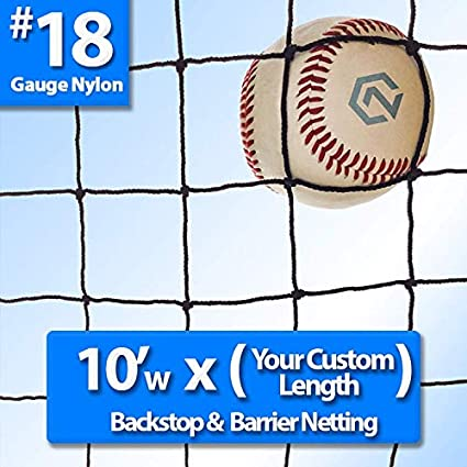 Amazon Com Baseball And Softball Backstop Barrier Nylon Netting 18 Sports Outdoors