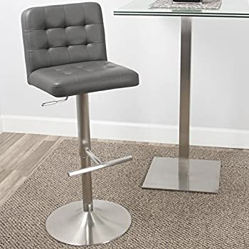 Amazon Com Mix Brushed Stainless Steel Faux Leather Grey
