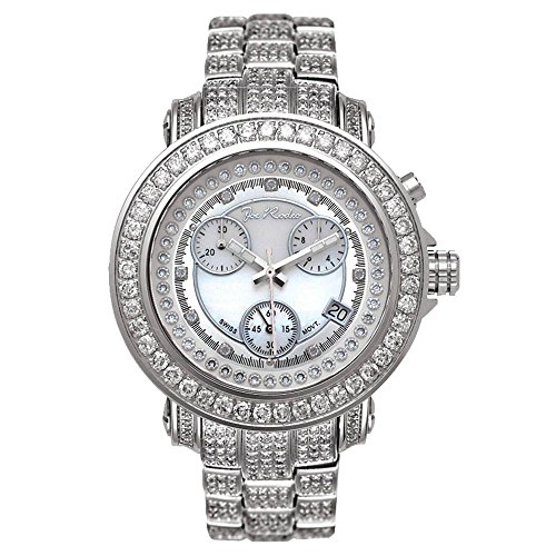Joe Rodeo JRO8 Rio Diamond Watch, White Dial with Silver Paved Band