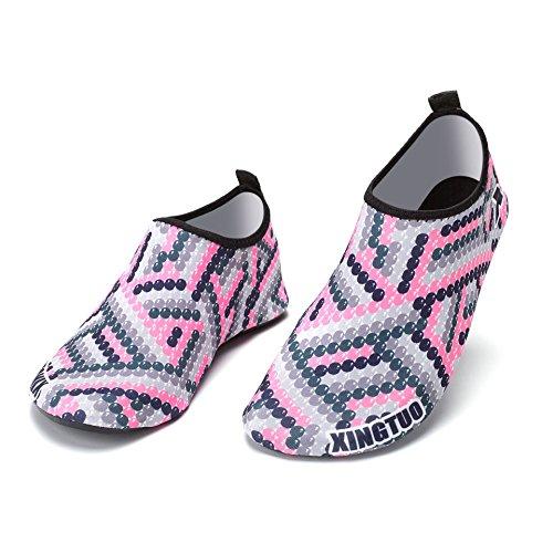 de Inferior Deriva Aire Suave Piel Zapatos Pink al Parche Zapatos Yoga Playa Zapatos Libre zancudas Natación Buceo Yq6XU