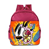 Kids Courage The Cowardly Dog School Backpack Cool Baby Boys Girls School Bag Pink