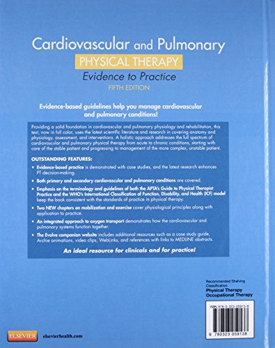 Cardiovascular and Pulmonary Physical Therapy: Evidence to Practice, 5e - medicalbooks.filipinodoctors.org