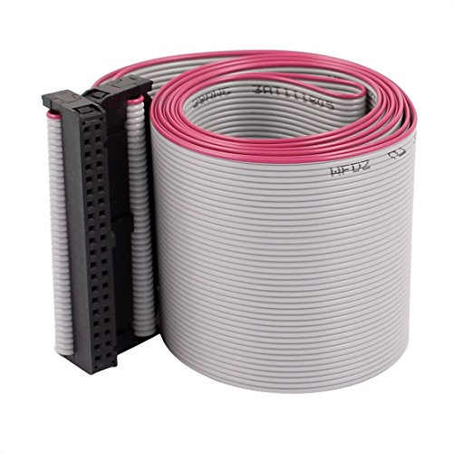 uxcell 2.54mm Pitch 40-Pin IDC F/F Jumper Wire Flat Ribbon Cable Line Connector 1.28m