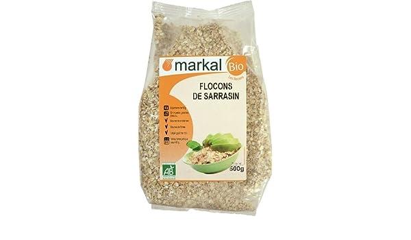 Copos de Trigo Sarraceno Bio - Copos de Trigo Sarraceno orgánica sin gluten | 500g | Markal: Amazon.es: Alimentación y bebidas