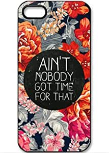 U-KISS Ain't Nobody Got Time For That Skin Retro Flower Hard Back Plastic Case Cover for iPhone 6 Plus (5.5 inch)