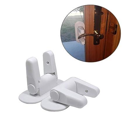 2 pcs Cerradura y Bloqueo de Protección para Puertas y Ventanas,GZQ,Cierre de