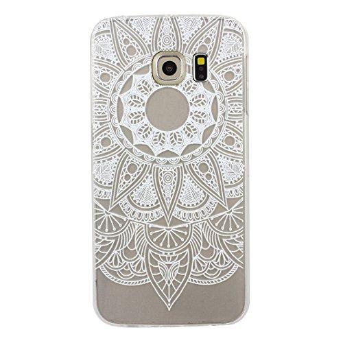 Galaxy S6 Edge Case, Asnlove 5.1 pulgadas Carcasa TPU Silicona Bumper Shock-Absorción Slim Silicon Funda Trasera Back Cover Phone Shell Protector Funda Para Samsung Galaxy S6 Edge G9250 Totem-4