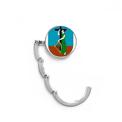 DIYthinker Montserrat América Latina Emblema Nacional Tabla Gancho Plegable del Bolso de Colgar Titular Escritorio Plegable: Amazon.es: Zapatos y ...