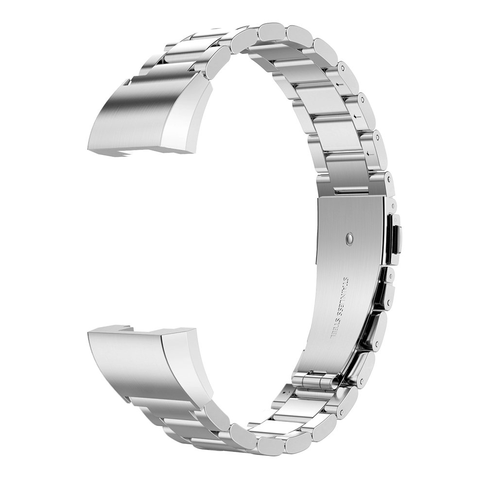 Wristband Compatible for Fitbit Charge 2 Black Simpeak Stainless Steel Replacement Metal Bands for Fit Bit Charge 2 Fitness Tracker