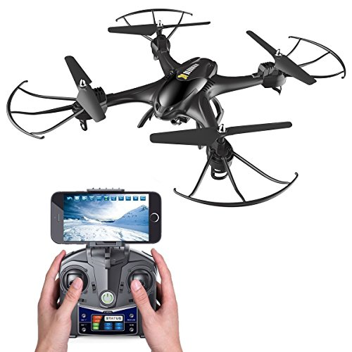 Holy Stone HS200 FPV RC Drone with HD Wifi Camera Live Feed 2.4GHz 4CH 6-Axis Gyro Quadcopter with Altitude Hold, Gravity Sensor and Headless Mode RTF Helicopter, Color Black from Holy Stone